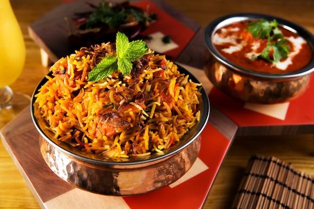 Repas indien biryani
