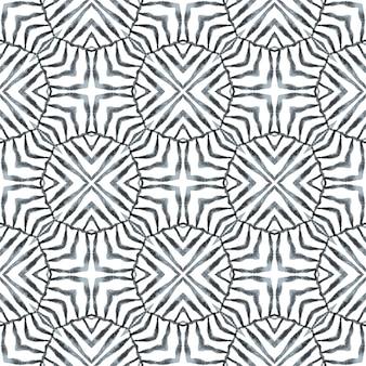 Répéter la bordure rayée dessinée à la main. magnifique design d'été bohème chic en noir et blanc. conception à rayures dessinées à la main. textile ready sublime print, tissu maillot de bain, papier peint, habillage.