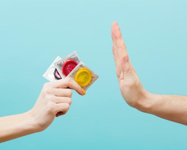 Représentation du concept de contraception vue de face