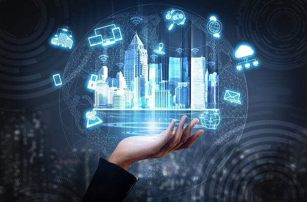 Réseau de communication sans fil pour ville intelligente