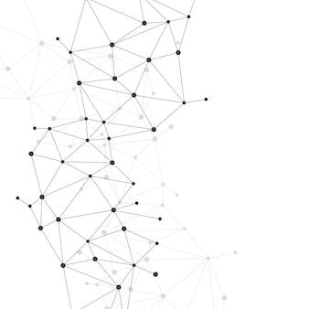 Réseau, connexion, point, polygone, fond