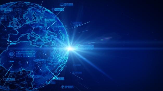 Réseau de données sécurisé. concept de cybersécurité et de protection des données personnelles