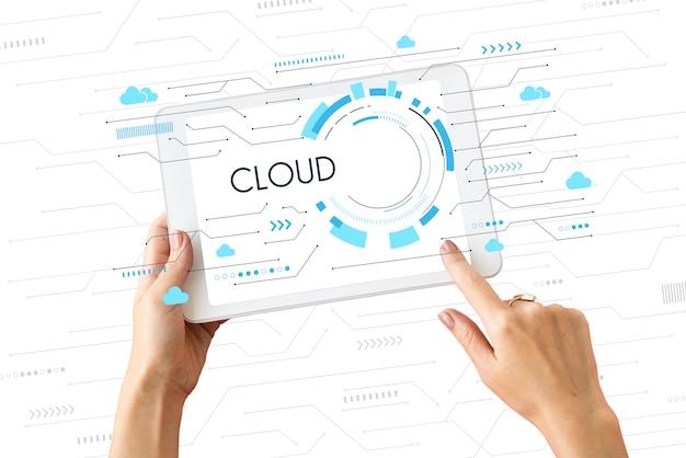 Réseau de données de stockage de cloud computing