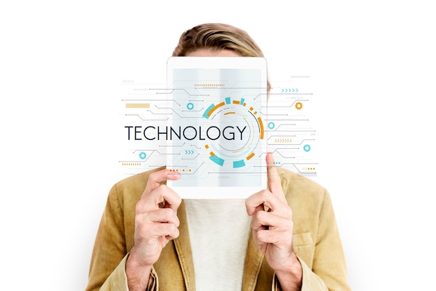 Réseau informatique numérique de fond de technologie