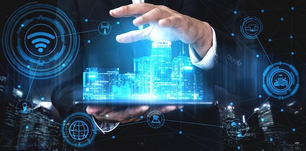 Réseau internet sans fil de technologie de communication 5g pour la croissance mondiale des entreprises, les médias sociaux, le commerce électronique numérique et le divertissement à domicile.