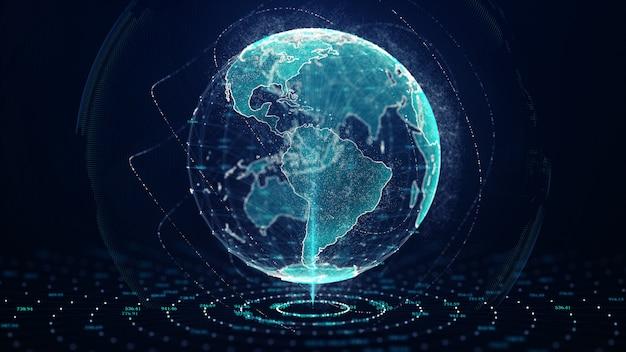 Réseau mondial croissant et tic