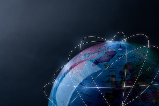 Réseau mondial pour la technologie et le futur concept