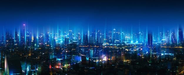 Réseau sans fil et ville de connexion
