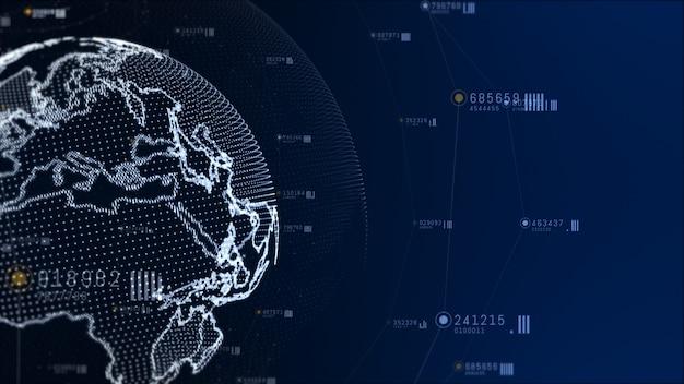 Réseau technologique et connexion de données.