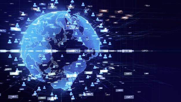 Réseau technologique pour le marketing internet information holographique