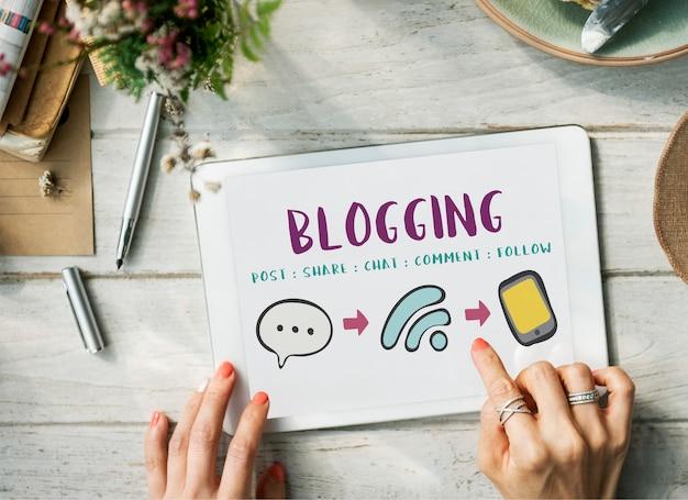 Réseautage de médias sociaux communication en ligne connect concept