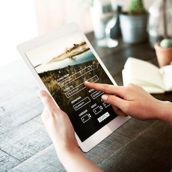 Réservation site web de vols de voyage