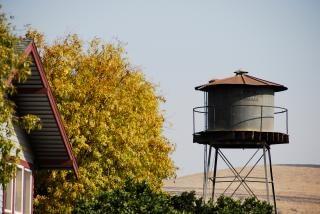 Réservoir d'eau dans les contreforts