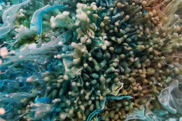 Résine époxy petri dish art abstrait