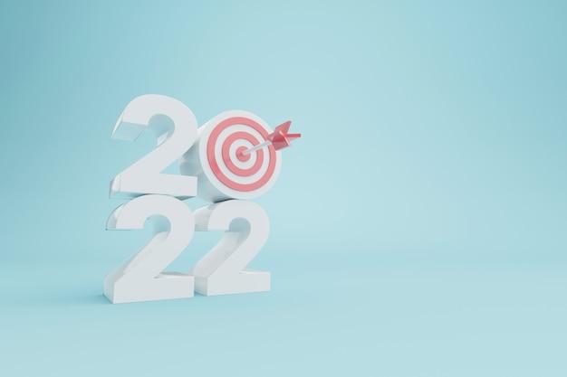 Résolution du nouvel an 2022 atteinte des objectifs ambition visant le succès