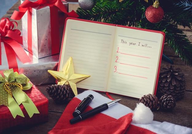 Résolution du nouvel an, liste vide