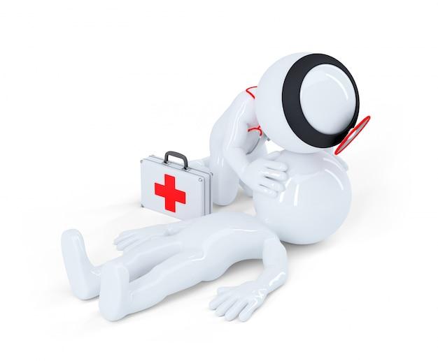 Respiration artificielle. concept d'aide aux premiers secours