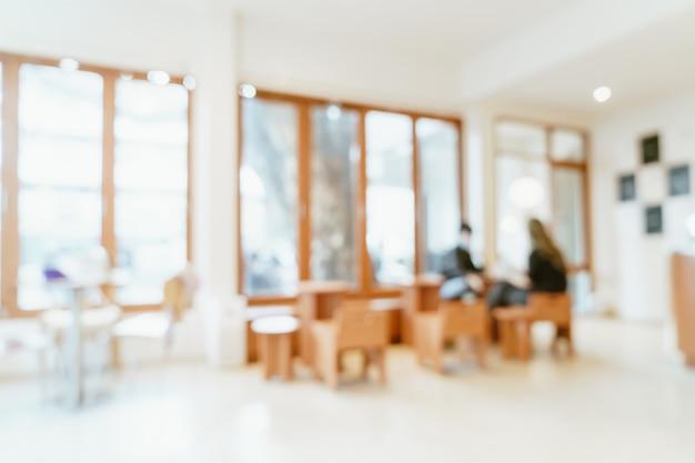 Restaurant de café flou abstrait pour le fond