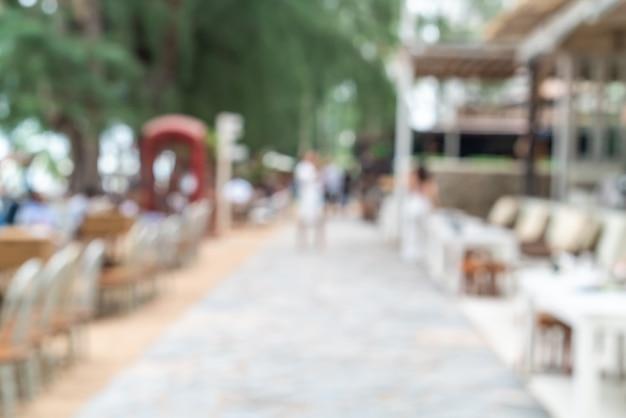 Restaurant de café en plein air flou abstrait