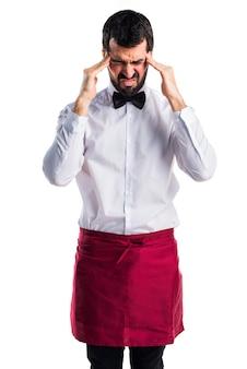 Restaurant serveuse élégante déçu stress