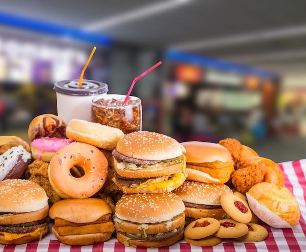 Restauration rapide, fromage hamburger pour votre déjeuner