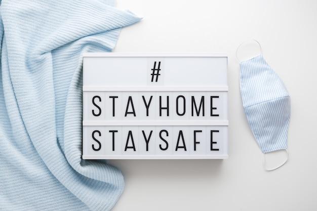 Restez à la maison, restez en sécurité