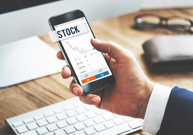 Résultats du marché boursier concept d'actions forex