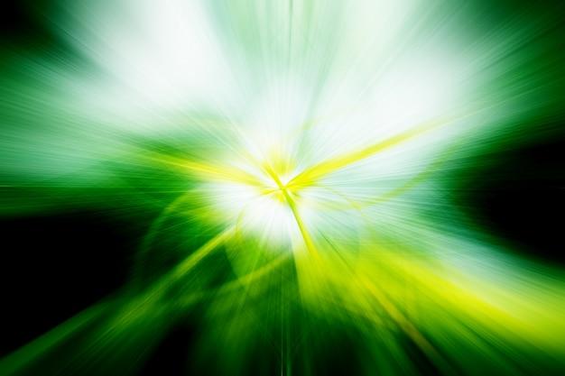 Résumé abstrait fibres légères vert jaune blanc noir