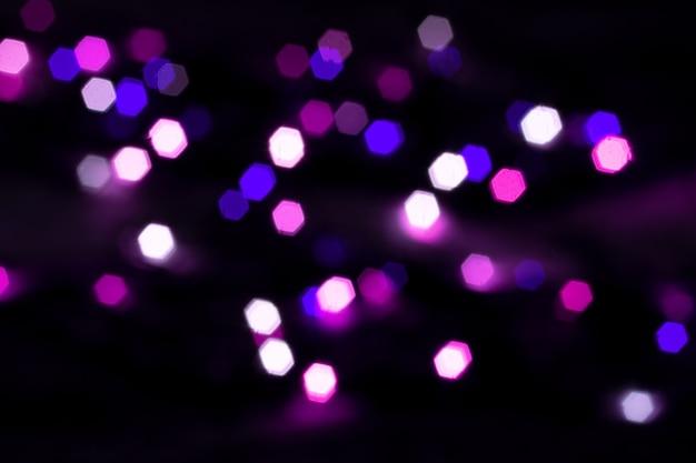 Résumé arrière-plan flou d'ampoules incandescentes