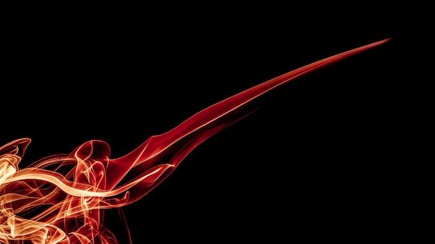 Résumé beau feu rougeoyant dans l'obscurité