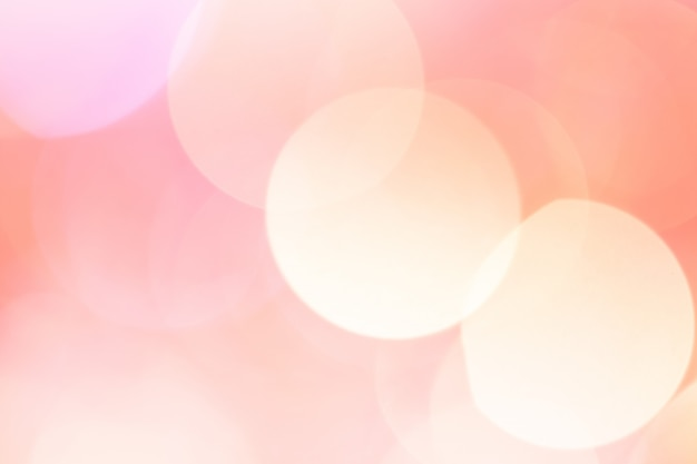 Résumé bokeh lumière. couleur rose pêche.