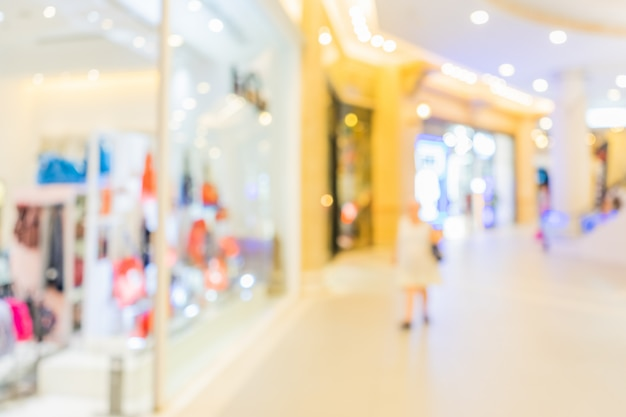 Résumé centre commercial floue en magasin