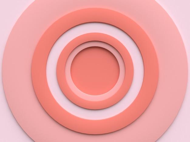 Résumé de cercle rose en rendu 3d