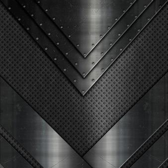 Résumé avec différentes textures métalliques