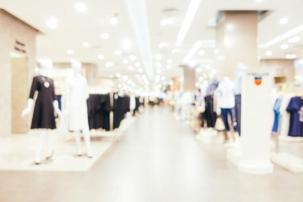 Résumé du flou et défocalisation du centre commercial du centre commercial