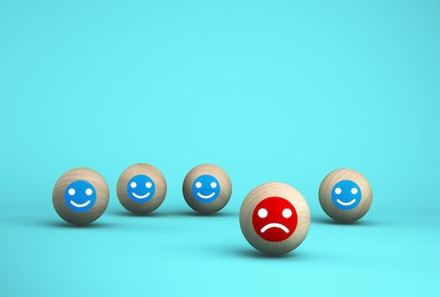 Résumé d'émotion de visage bonheur et tristesse