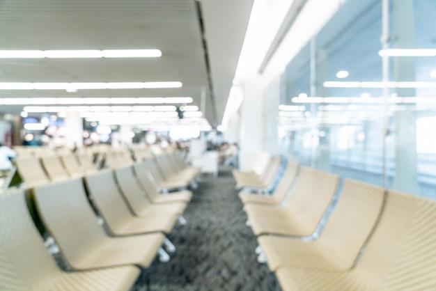 Résumé flou aéroport pour le fond