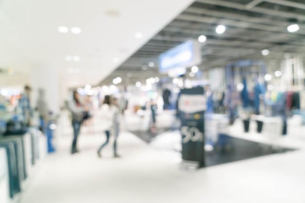 Résumé flou beau centre commercial de luxe et détail magasin intérieur
