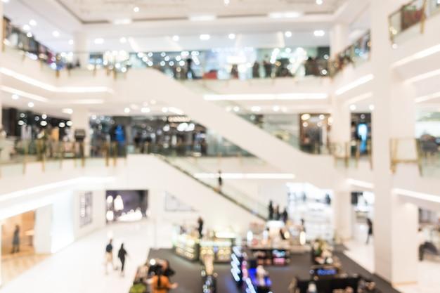 Résumé flou beau centre commercial de luxe et magasin de détail