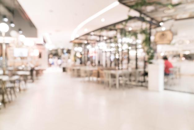 Résumé flou beau centre commercial de luxe et vente au détail intérieur du magasin