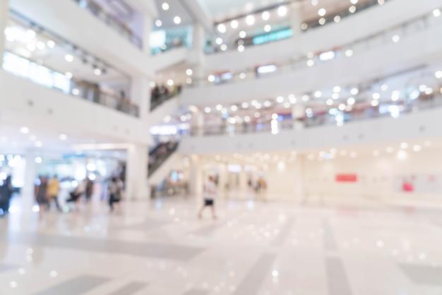 Résumé flou beau centre commercial de luxe