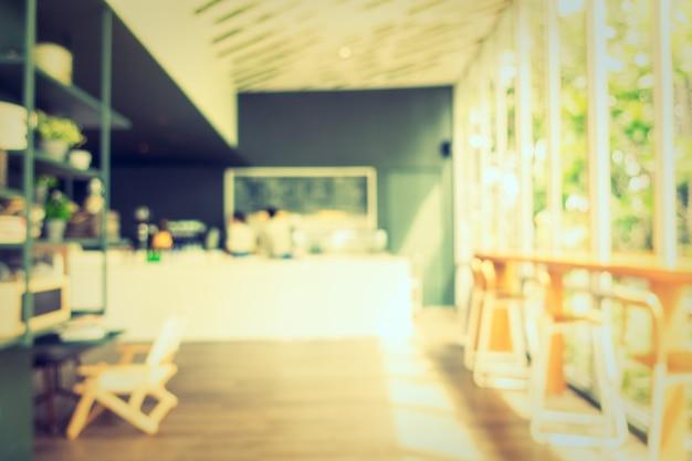 Résumé flou café et restaurant