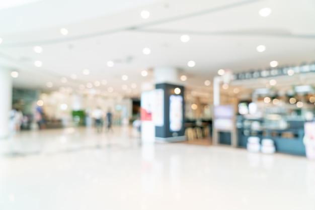 Résumé flou centre commercial ou intérieur de magasin