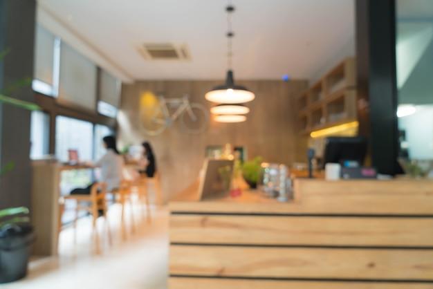Résumé flou dans le café