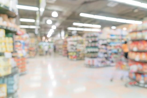 Résumé flou dans le supermarché