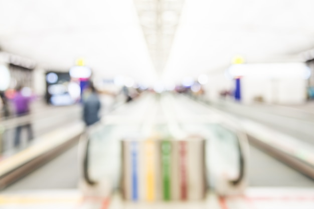 Résumé flou fond de l'aéroport de hong kong