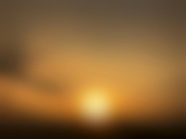 Résumé flou fond coucher de soleil.
