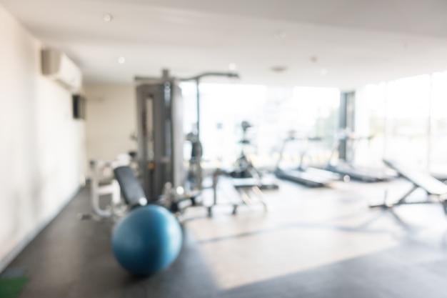 Résumé flou gym et fitness