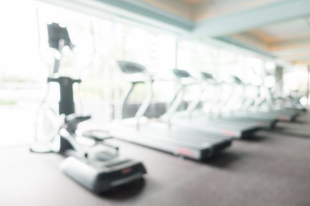 Résumé flou gym et salle de fitness