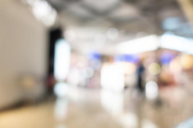 Résumé flou intérieur de centre commercial de grand magasin
